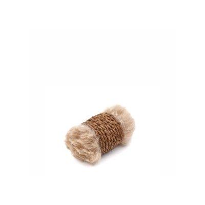 Zabawka sizalowy walec brąz 12cm dla KOTA JkAnimal