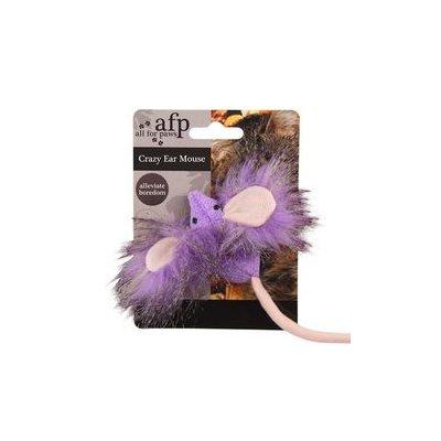 Zabawka mysz z uszami i ogonem 15cm dla KOTA Jk