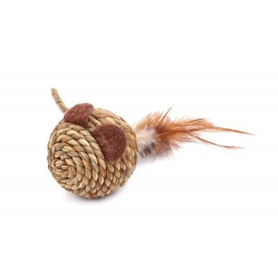 Zabawka sizalowa mysz kula 11cm dla KOTA JkAnimals