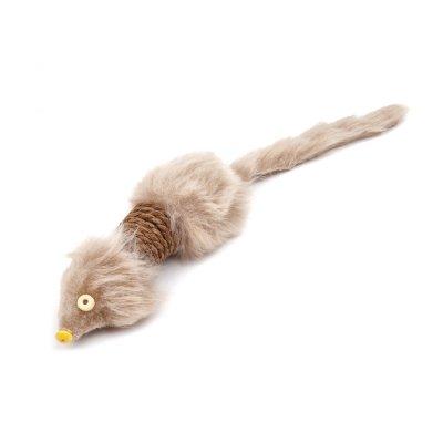 Zabawka duża sizalowa mysz 28cm dla KOTA JkAnimals