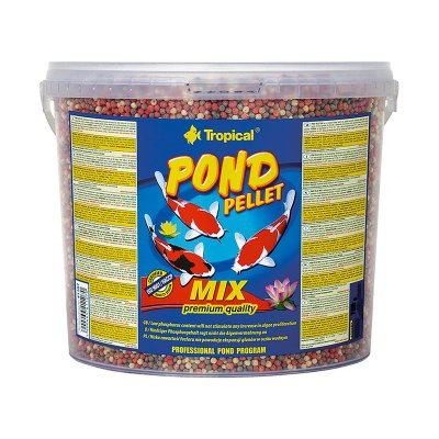 TROPICAL POND PELLET MIX 5L Drobny Pellet