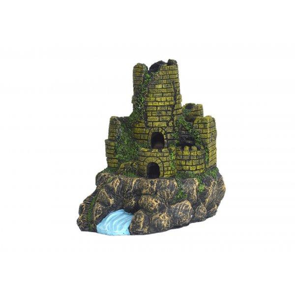 Ozdoba Zamek Ruiny 18,5 cm super jakość