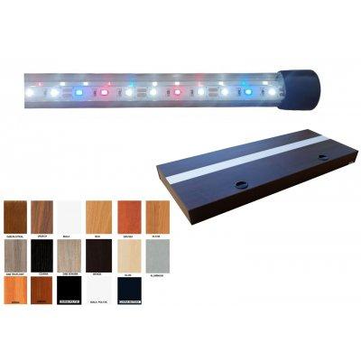 Pokrywa ALUMINIOWA 100x40 Prosta LED 2x24W Colour 17 kolorów