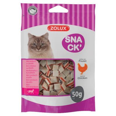 ZOLUX Przysmak dla kota mini kanapka z kurczakiem 50g