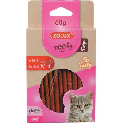 ZOLUX Przysmak MOOKY TWIGS dla kota z wołowiną 60g