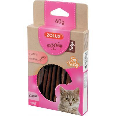 ZOLUX Przysmak MOOKY TWIGS dla kota z łososiem 60g