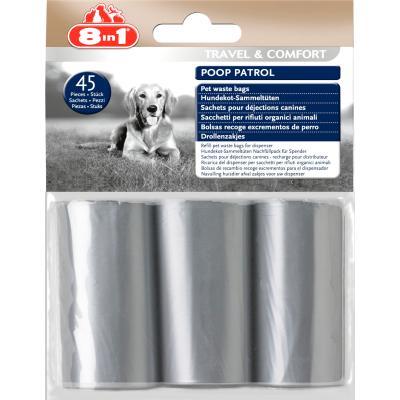 Woreczki na odchody 8in1 Poop Patrol Pet Waste Bags Refill 3 rolki