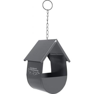ZOLUX Karmnik dla ptaków na ziarna CABANE szary