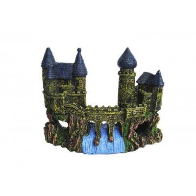Ozdoba akwariowa Zamek z wodospadem - 16cm