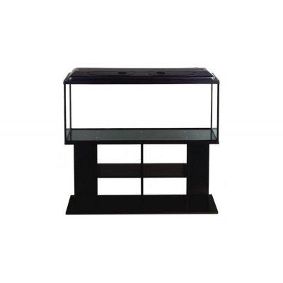 Zestaw 290l prosty+wyposażenie+szafka Czarna 120cm