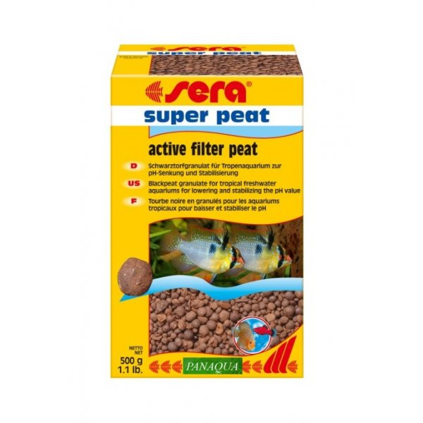 SERA SUPER PEAT 500g Torf Obniża pH