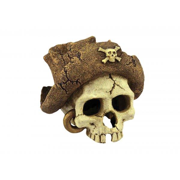 Ozdoba akwariowa Czaszka pirat - 15 cm
