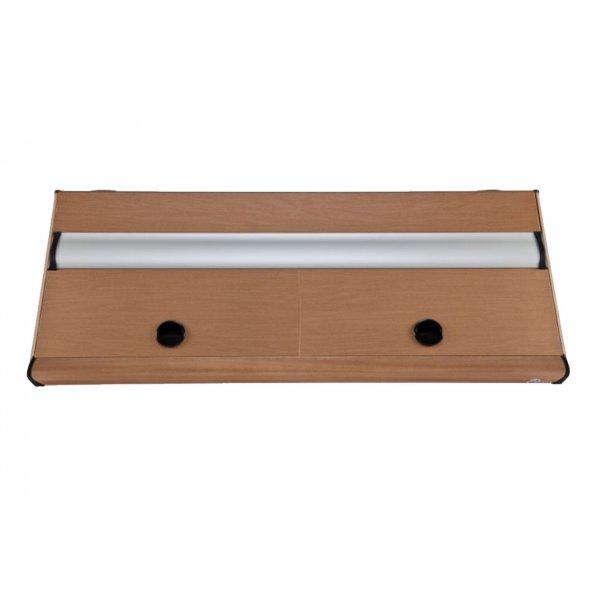 DIVERSA Pokrywa aluminiowa PLATINO T8 160x60 2x36W