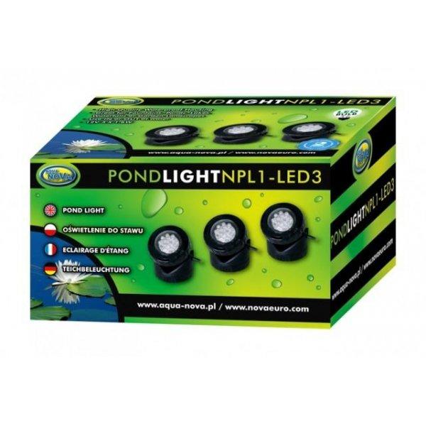 Wodoodporne oświetlenie LED 3x1,6W Aqua Nova