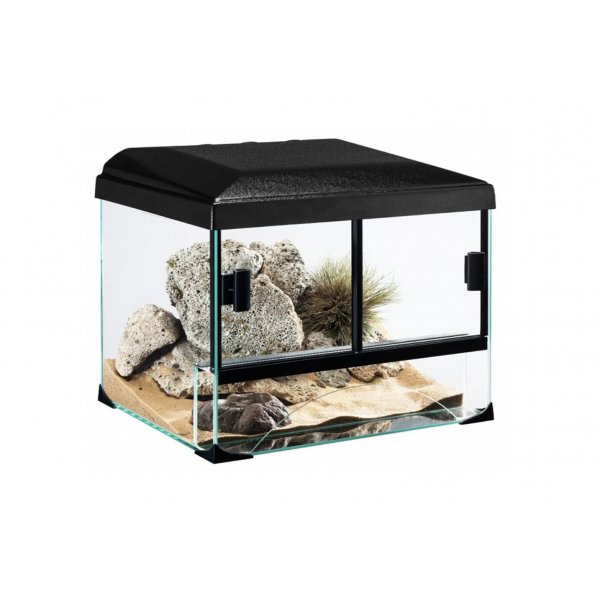 Zestaw Terrarium 30x25x25 z wyposaż dla pustynnych