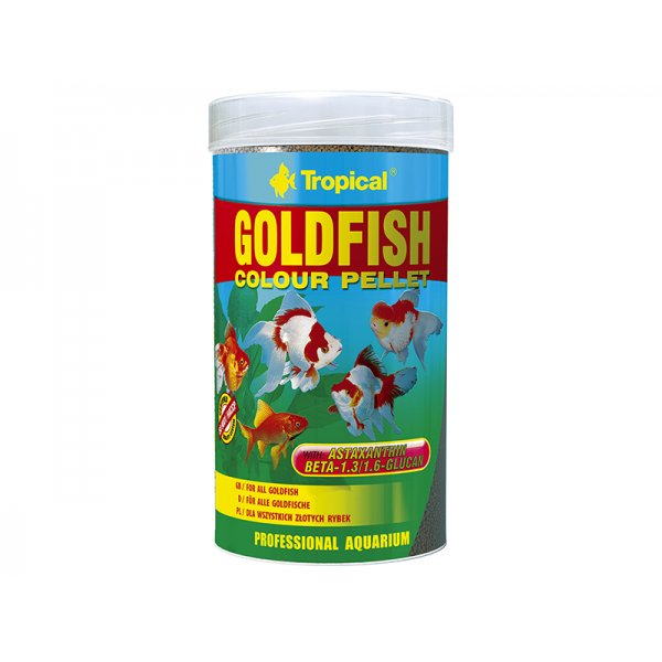 TROPICAL GOLDFISH COLOUR PELLET 250ML (75g)ORGINA