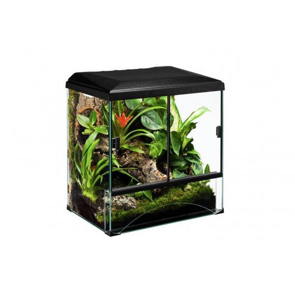 Zestaw Terrarium 30x25x35 z wyposaż dla małych węż