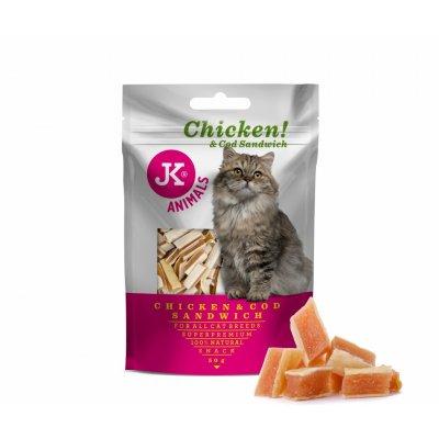 Karma dla KOTA JKCat 50g Sandwich Kurczak Dorsz