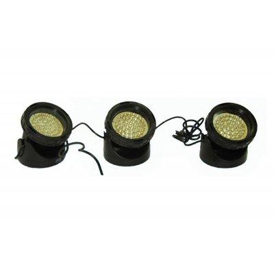 ZESTAW REFLEKTORÓW LED 3x34 led BIAŁE 85mm
