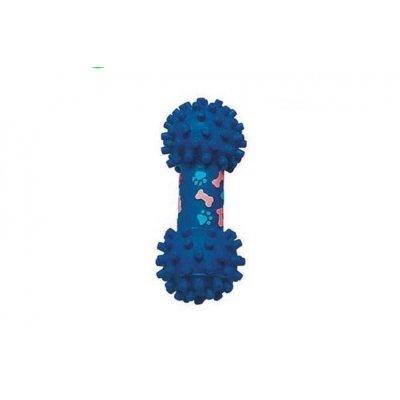 Zabawka dla psa - Hantel granatowe łatki - 19cm