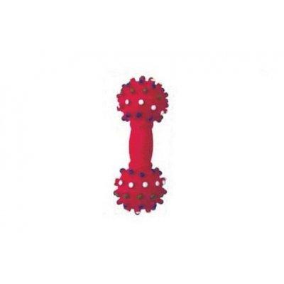 Zabawka dla psa - Hantel czerwony jeż - 21cm