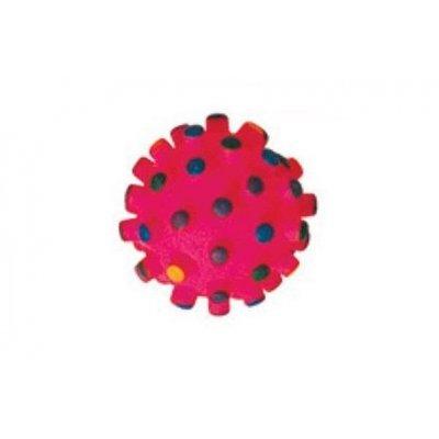 Zabawka dla psa - Czerwona kulka wypustki - 6cm