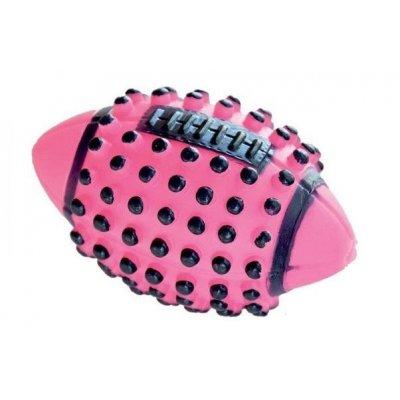 Zabawka dla psa - Różowa rugby wypustki - 13cm