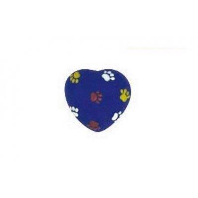 Zabawka dla psa NIEBIESKIE SERDUSZKO - 7,5 cm